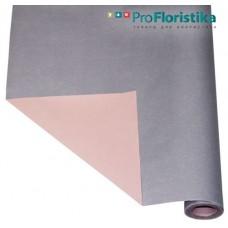 Бумага Крафт двусторонняя сиреневая/розовая, 70см, 400гр