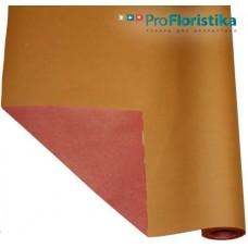 Бумага Крафт двусторонняя оранжевая/красная, 70см, 400гр