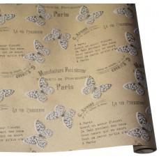 "Бумага Крафт ""Бабочки"" белый, 70 см, 400гр, 70г/м2"