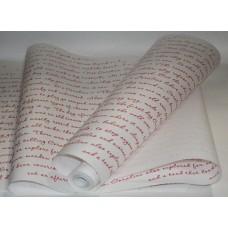 """Бумага Крафт белая с рисунком """"Письмо"""" красный, 70 см, 400гр, 70г/м2"""