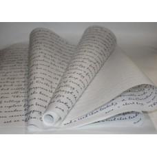 """Бумага Крафт белая с рисунком """"Письмо"""" синий, 70 см, 400гр, 70г/м2"""