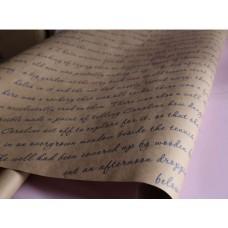 """Бумага Крафт с рисунком """"Письмо"""" синий, 70 см, 400гр, 70г/м2"""
