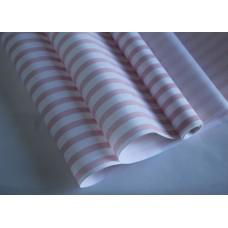 """Бумага Крафт белая """"Полосы"""" розовый, 70 см, 400гр, 70г/м2"""