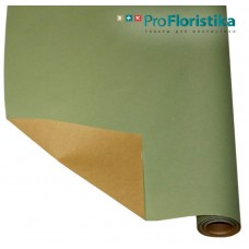 Бумага Крафт двусторонняя зелёная/светло-оранжевая, 70см, 400гр
