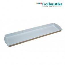 Контейнер под флористическую пену 49 x 12,5 x 3 см белый