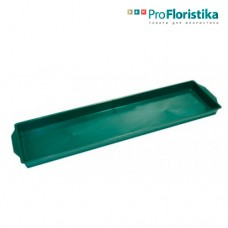 Контейнер под флористическую пену 49 x 12,5 x 3 см зелёный