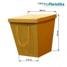 Коробка для цветов крафт, с крышкой, 270 х 380 х 425 см