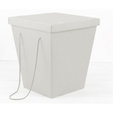 Коробка-переноска для цветов белая, с крышкой, 200 х 340 х 405 см