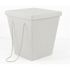 Коробка-переноска для цветов белая, с крышкой, 270 х 380 х 425 см