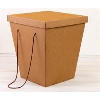 Коробка-переноска для цветов крафт, с крышкой, 160 х 300 х 435 см