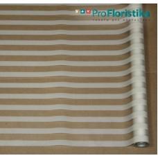 Матовая пленка с горизонтальной полосой белая, 70см, 200гр, 40мкм (без втулки)