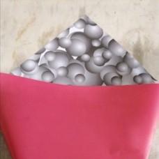 "Плёнка ""Корея"" 3D пузыри, 60см, 300гр, 50мкм (Чёрный/Р485с)"