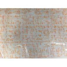 """Плёнка с рисунком """"Граффити"""" 70 см 200 гр (оранжевый)"""