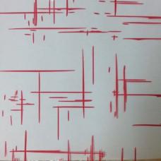"""Плёнка с рисунком """"Граффити"""" 70 см 200 гр (красный)"""