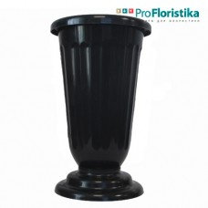 Ваза для цветов 36 см чёрная
