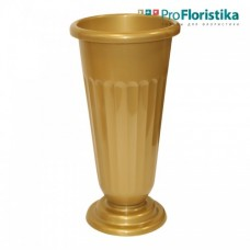 Ваза для цветов 45 см золотая